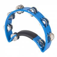 RTT4BL ORIGINAL TAMBOURINE - NICKEL STEEL JINGLES - BLUE