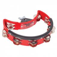 DST3R DRUM SET TAMBOURINE - STEEL JINGLES - RED