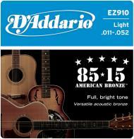 Set žica za akustičnu gitaru Light 11-52 - EZ 910