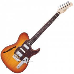 FKV22HB COUNTRY SQUIRE SEMITONE DE LUXE ~ HONEYBURST električna gitara - 1