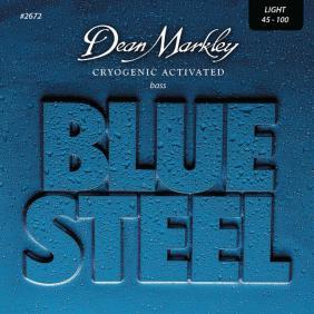 DM2672 BLUE STEEL LIGHT 4 STRING 45-100 SET ŽICA ZA BAS GITARU - 1